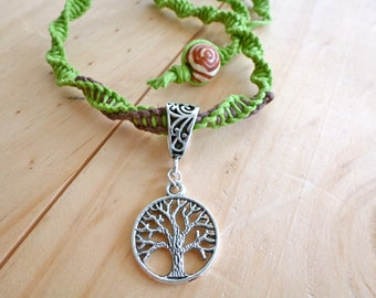 Tree of Life Hemp Necklace. Hippie Necklace. Boho Jewelry. Natural Jewelry. Earthy Necklace.