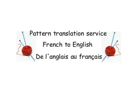 Crochet Stitches English Version : Knitting and Crochet Patterns translation service - French to English