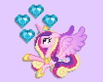 Princess Cadance 8-Bit Print