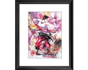 Original Watercolor - Spanish Dancer
