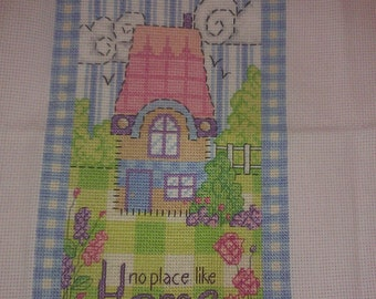 Completed cross stitch - Cozy Home