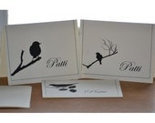 Old Fashioned Personalized Silhouette Note Cards - 8 pack / Birds / Cats / Dogs / Chickens / Your Name / Paper / 10% Proceeds to Charity
