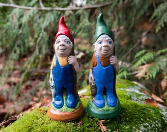 Mr. Fisherman Hand Painted Concrete Garden Gnome