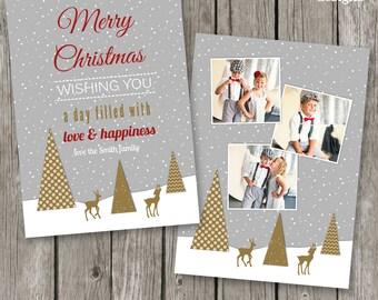 Christmas Photo Card Template - Holiday Card Template for Photographers - Christmas Template Design - CC27