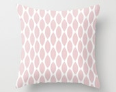 Velveteen Pillow - Pale Pink Ikat Petals  - Spring Decorations  - Pink Throw Pillow - Teen Room Decor - Girls Room Decor - Spring Decor