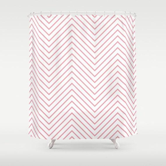 Shower Curtain Pink Light Chevron Pink Chevron Shower