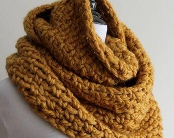 Knit Stitch Wrap Yarn Clockwise : Yellow knit scarf Etsy