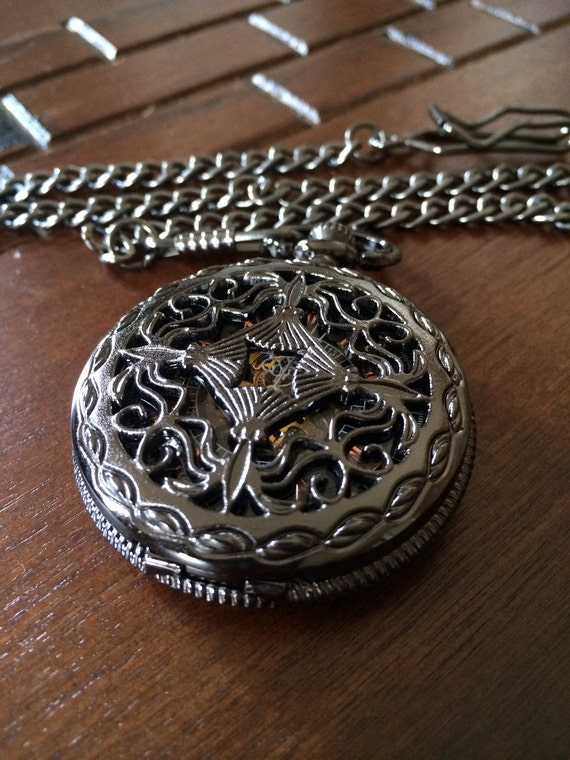 set of 8 pocket watches with chains by pocketwatchkeepsakes