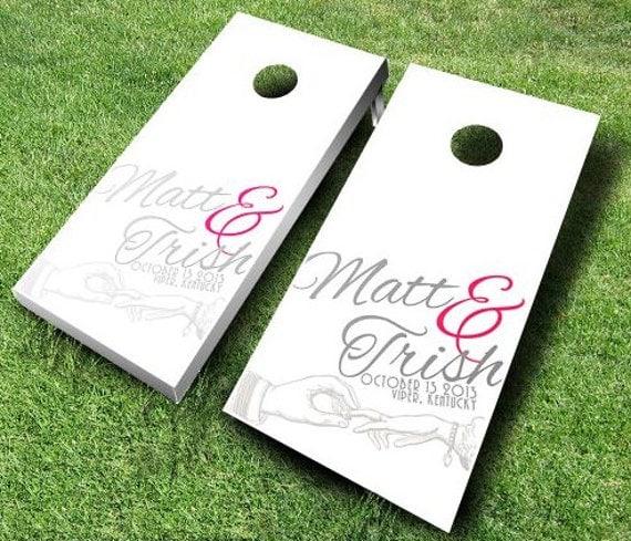 Wedding Cornhole Board Set By MidwestCornhole On Etsy
