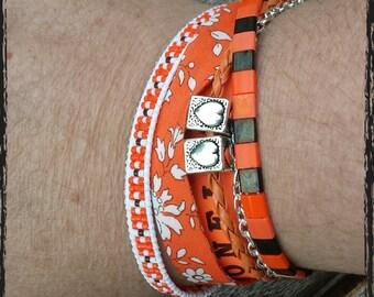 Cuff multi-row. Liberty of London orange