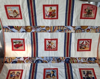 Bears and Hot Air Balloons Quilt