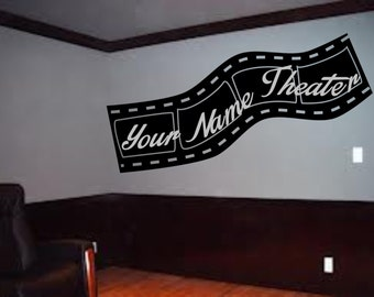 Your name custom Theater wall art decal