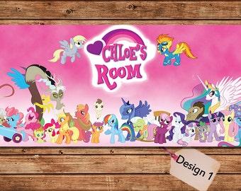 my little pony friends hip is magic kids door plaque bedroom