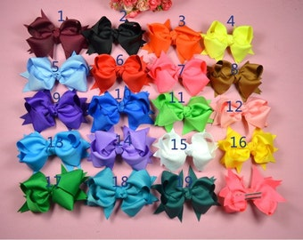 10 bows - baby bow - bows for baby - toddler bows - girl bows  - bow for girl hair - hairbows girl - toddler bow - U choose color H1