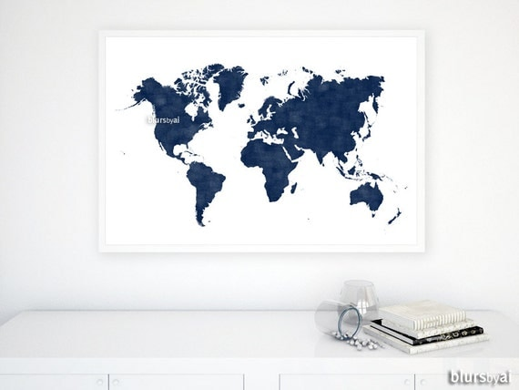 36x24 printable world map dark navy blue wall art navy 36x24 printable world map dark navy blue wall art navy map distressed vintage texture map poster fathers day gift for him map133 a gumiabroncs Image collections