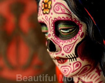 Beautiful Mortal Dia De Los Muertos Mary PRINT 305 Reproduction