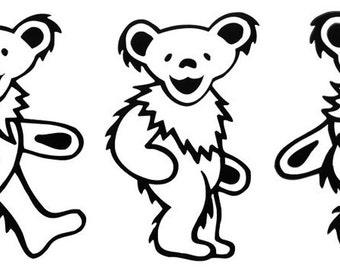 5 Greatful Dead Dancing Bears Group  Vinyl Sticker