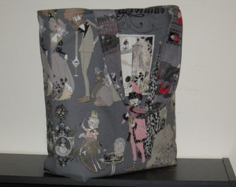 Large Reversible Ghastlies/Oddities Tote Bag