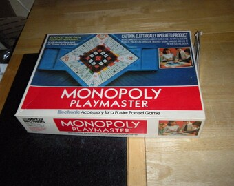 MONOPOLY vintage playmaster BOARD GAME accessory parker brothers electronic banker