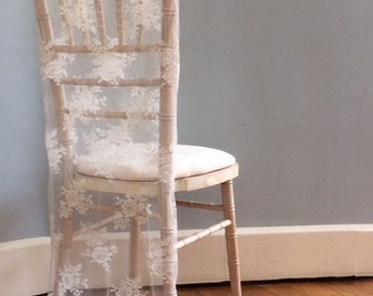 Lace Wedding Chair Cover - Vintage