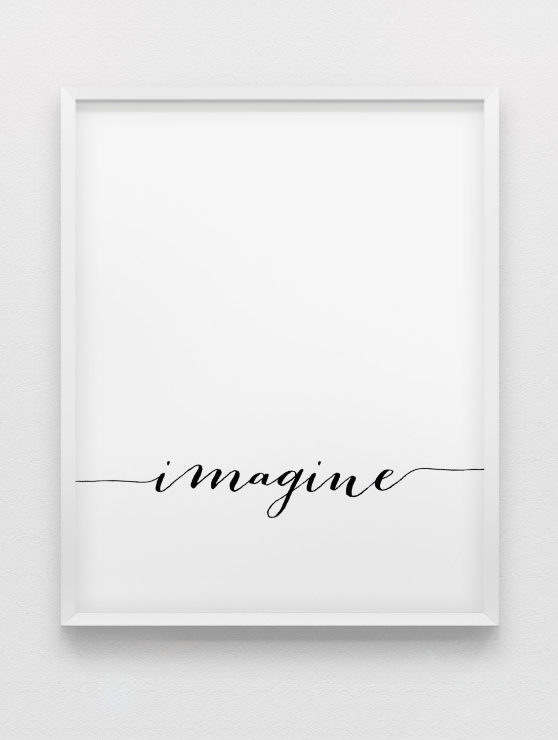 imagine print inspirational poster black and white. Black Bedroom Furniture Sets. Home Design Ideas