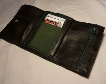Bicycle tube with card holder wallet