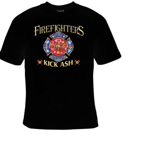Tshirts fire fighters kick ash t shirts unisex movie tshirt for Kicks on fire t shirt