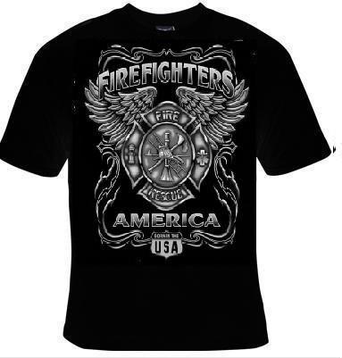 Tshirts firefighter usa t shirts tees tee t shirt design for T shirt design usa