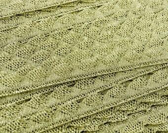 109yds Gold Lurex Lace Trim - 1cm Wide