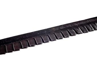 22yds Black Pleated Satin Ribbon Trim