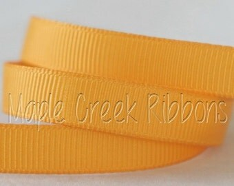 "5 yards Light Gold Grosgrain Ribbon, 4 Widths Available: 1 1/2"", 7/8"", 5/8"", 3/8"""