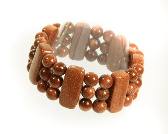 Designer Goldstone Stretch Bracelet