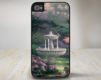 "50-3720 ""Fountain"" Garden Flowers Rose iPhone 5 Case, iPhone 5s Case, iPhone 4/4s Case Protective Phone Cases"