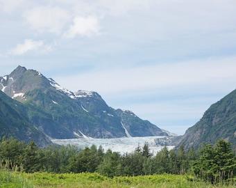 Alaska Mountains Skagway Davidson Glacier Landscape Ocean Photography Photo Art 8x10 Print