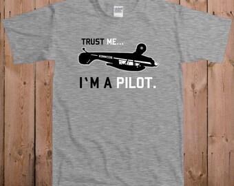 Pilot shirt funny t shirts for men Don't worry I'm a pilot custom name on airplane altitude women ladies men youth tshirt T-Shirt Tee shirt