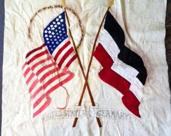 VINTAGE FLAG EMBROIDERY