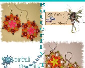 Butterfly twin earring pattern in italian and french