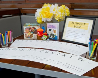 baby's first alphabet book - a baby shower game / gift - digital download PDF