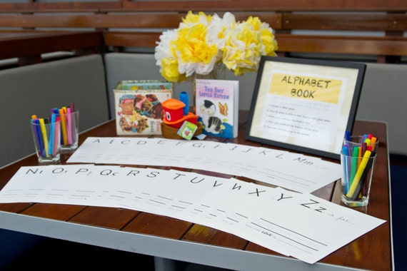 baby's first alphabet book - a baby shower game / gift - PDF
