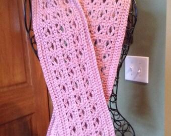 Crocheted Blush Scarf