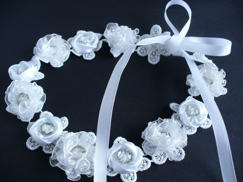 bridal wedding ribbon headbands bridal by looksgreatjewels
