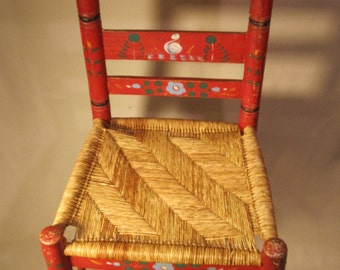 Hand-Painted Wooden Chair from the 1920's.