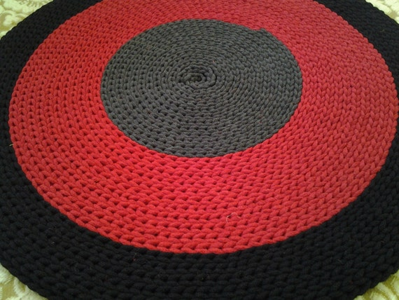 crochet rond tapis 24 39 39 61 cm fait la. Black Bedroom Furniture Sets. Home Design Ideas