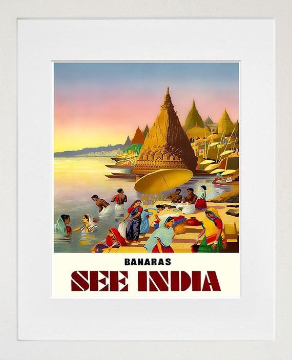 India Travel Poster Indian Art Print Home Decor Zt398