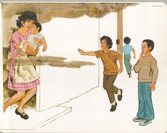 1974 Educational Illustrations - House Fire