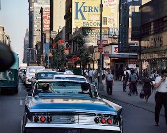 New York 1963 64 Diamond District Jewelry Luxury Shop Bijoux Taxi Bus Photo Vintage Look Arthur von Schwertfuehrer (1891-1967) Open Edition