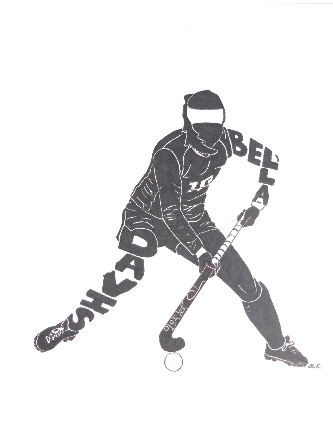 Field Hockey Player Silhouette Female field hockey player name ...