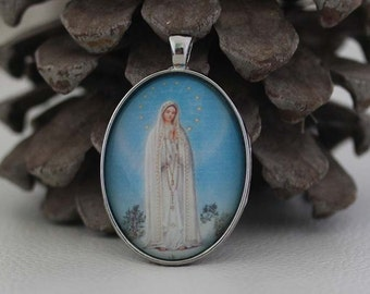 Our Lady of Fatima - Religious Christian Catholic Medal Pendant Religious Jewelry