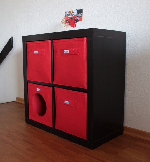 red felt boxes fit into ikea expedit and kallax felt storage. Black Bedroom Furniture Sets. Home Design Ideas