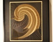 137.5077 laser cut wall hanging by artist David Seied